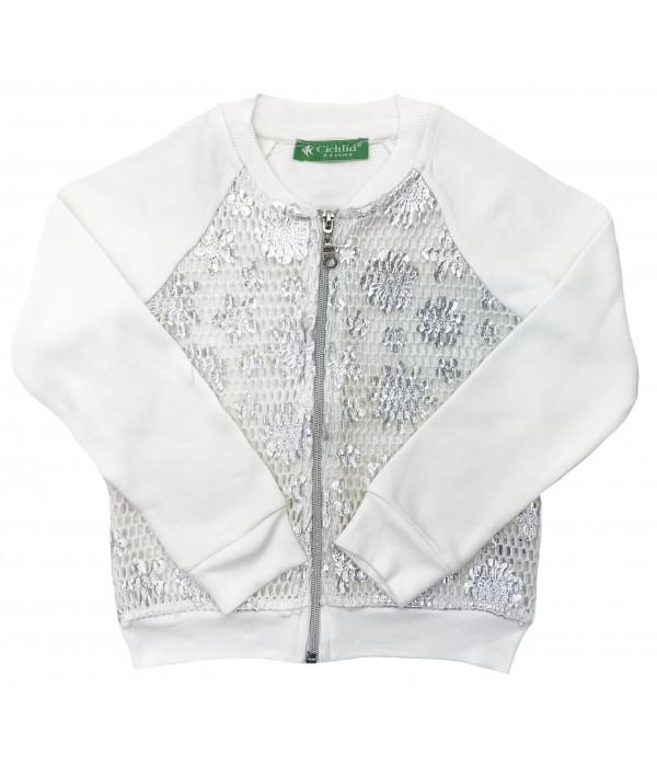 2303-002 Куртка трикотажная для девочек Cichlid