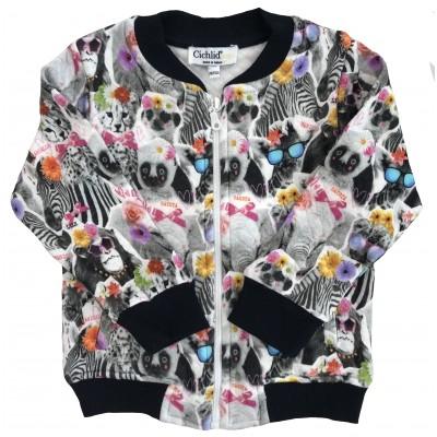8003-017 Куртка трикотажная для девочек Cichlid