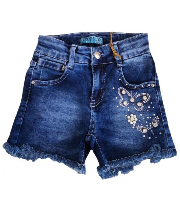 S665 Шорты джинсовые для девочек Cichlid