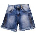 S667-01 Шорты джинсовые для девочек Cichlid