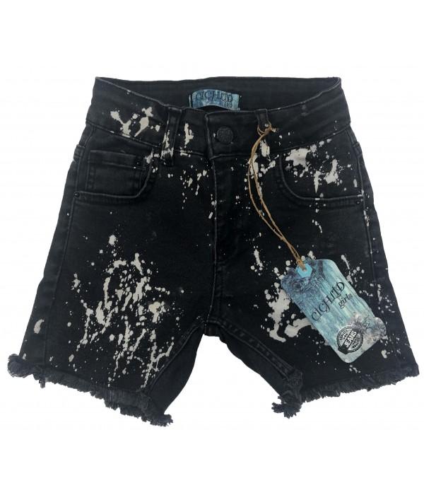 S672-01 Шорты джинсовые для девочек Cichlid