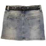 E687 Юбка для девочек джинсовая Cichlid