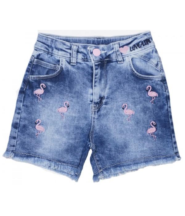 P-820 Шорты джинсовые для девочек Cichlid