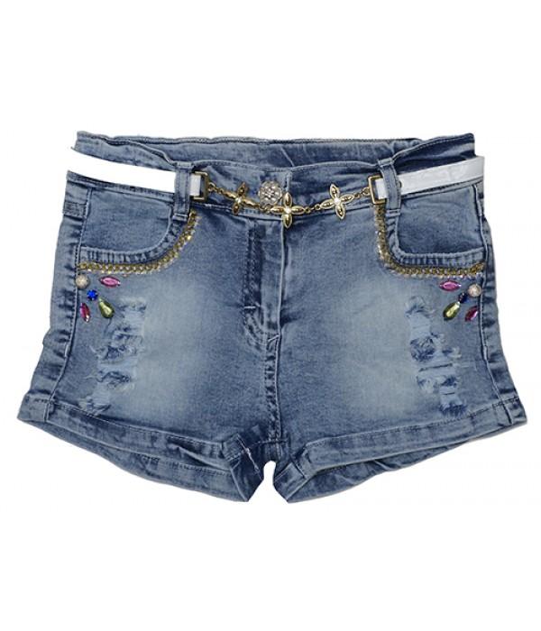 4909 Шорты джинсовые для девочек Overdo