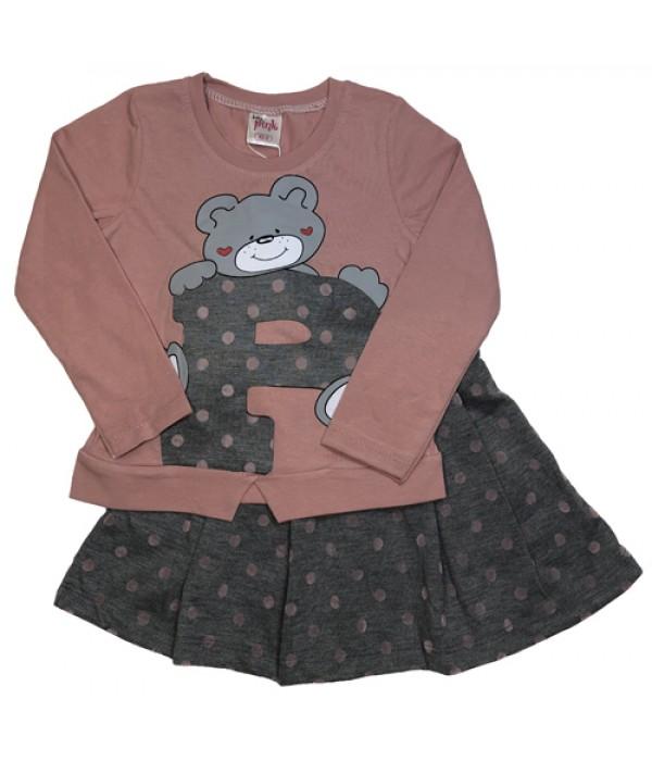4384 Костюм с юбкой для девочек Baby Pink