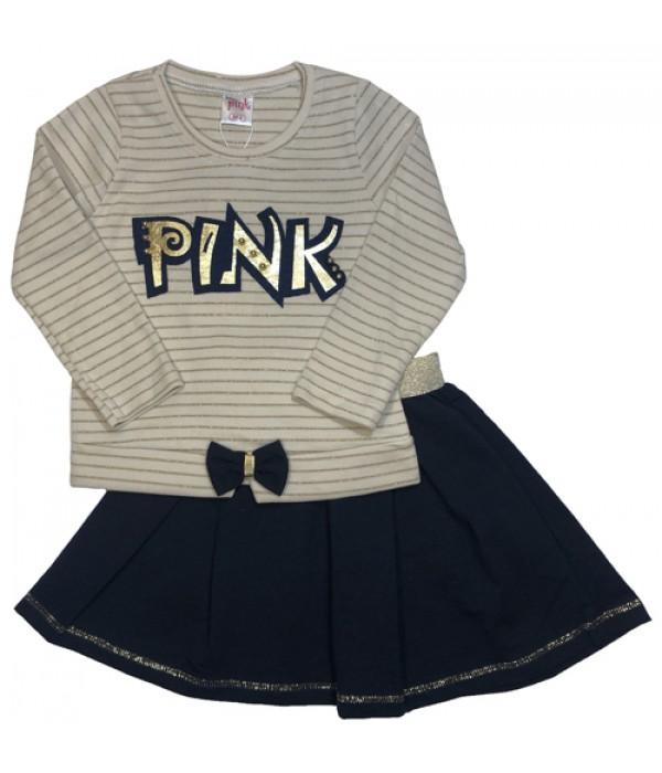 9752 Костюм с юбкой для девочек Baby Pink