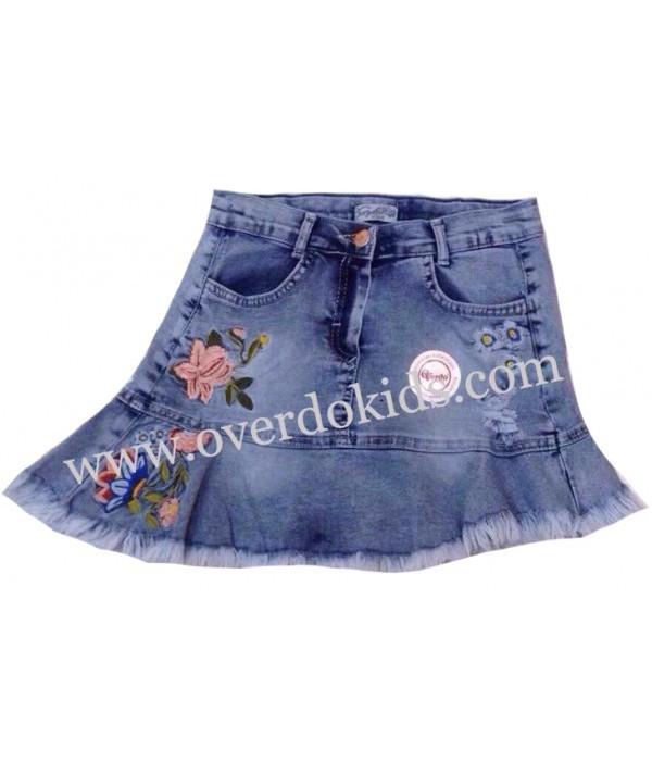 5358 Юбка джинсовая для девочек Overdo