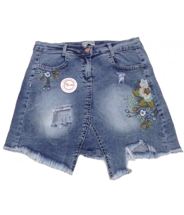 5312 Юбка джинсовая для девочек Overdo