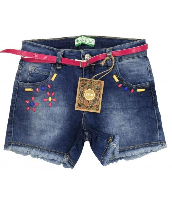 S1548 Шорты джинсовые для девочек Cichlid