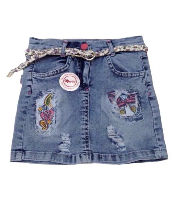 5338 Юбка джинсовая для девочек Overdo