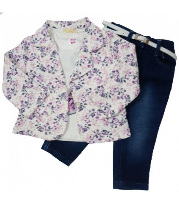 8212 Костюм 3-ка для девочек Baby Pink