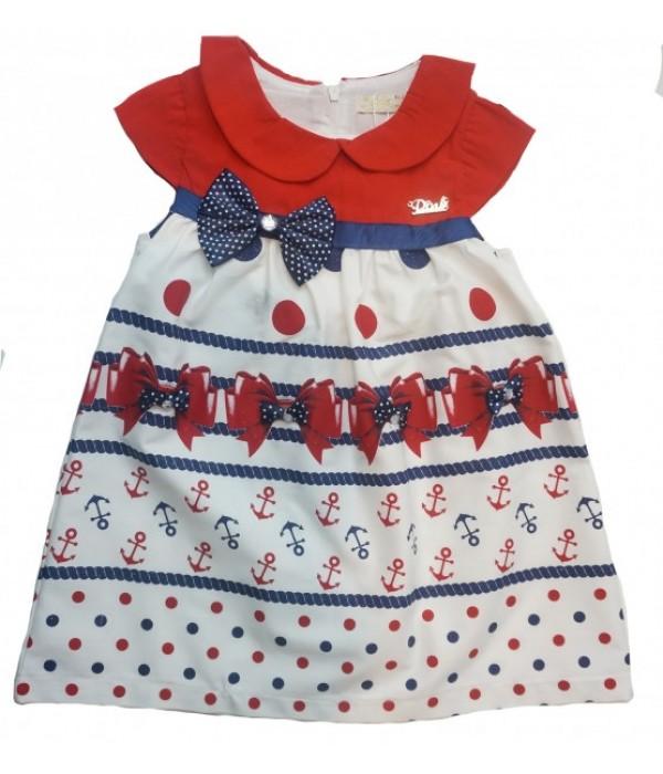 9016 Платье С СИНИМ ВЕРХОМ для девочек Baby Pink