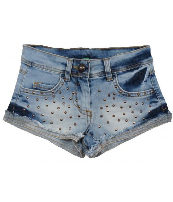 T306-B Шорты джинсовые для девочек Cichlid