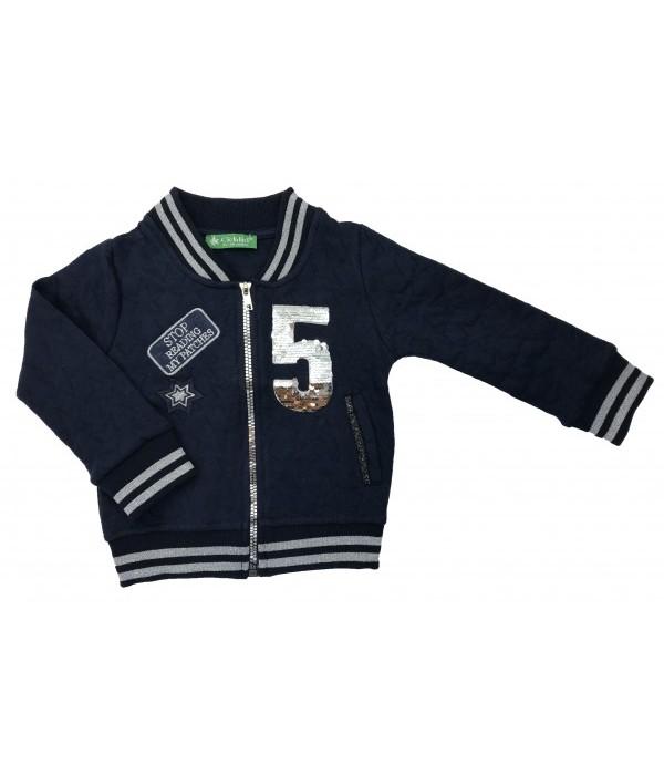 KU318 Куртка трикотажная для девочек Cichlid
