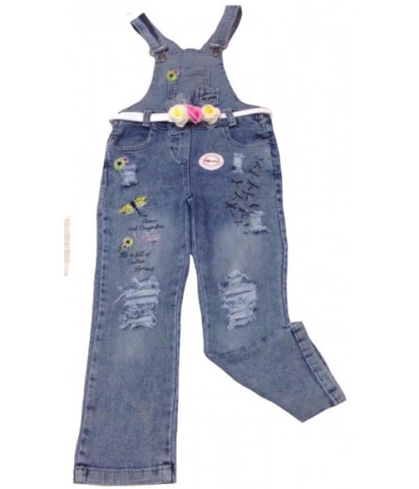 5311 Комбинезон джинсовый для девочек Overdo