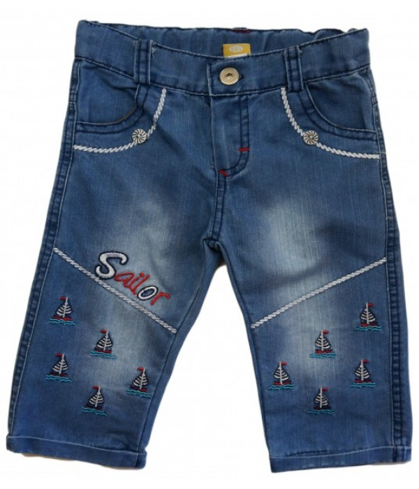 9741 Капри джинсовые для мальчиков Mini'a