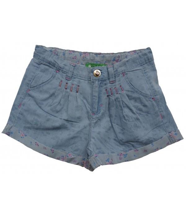 T318-B Шорты джинсовые для девочек Cichlid