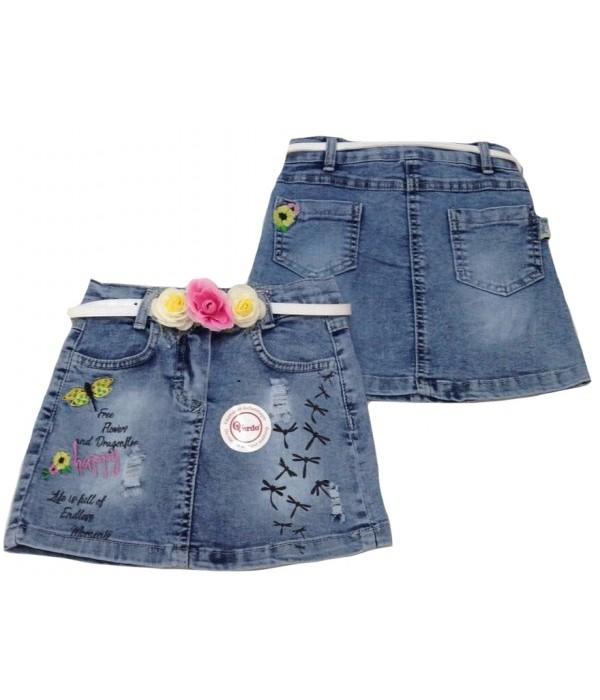 5310 Юбка джинсовая для девочек Overdo