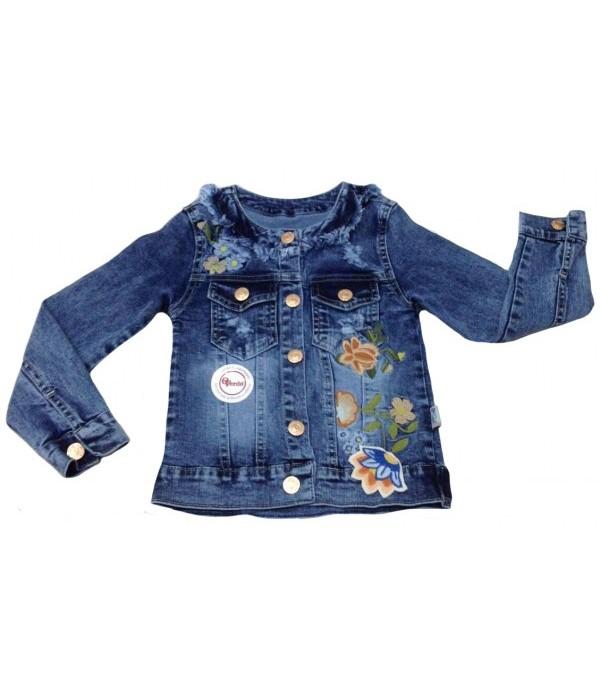 5323 Куртка джинсовая для девочек Overdo