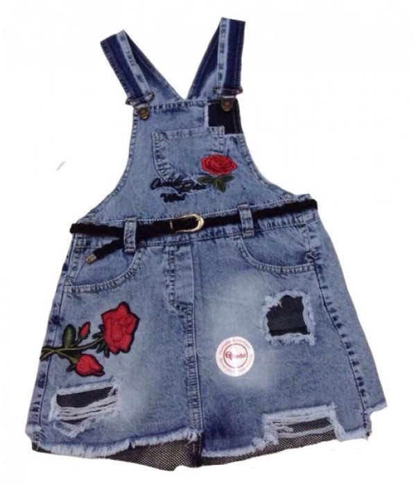 5347 Сарафан джинсовый для девочек Overdo