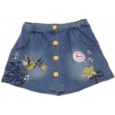 5303 Юбка джинсовая для девочек Overdo