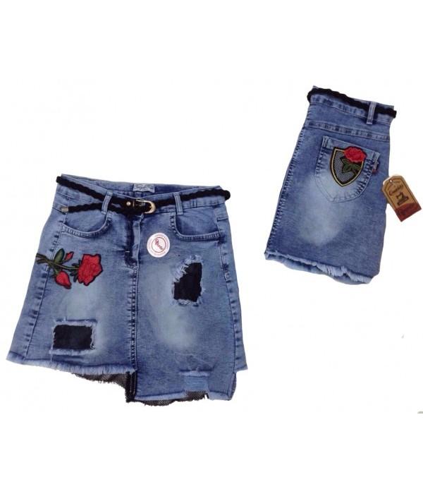 5348 Юбка джинсовая для девочек Overdo