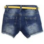 S1548-1 Шорты джинсовые для девочек Cichlid